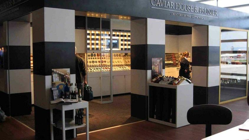 Espaces de vente Caviar House et Prunier aéroports et grands magasins